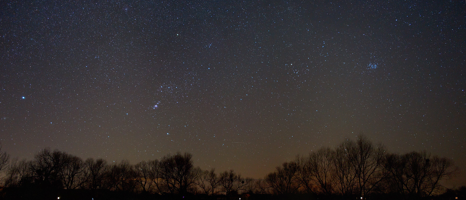 Звёздное небо Орион и Плеяды mrradetel