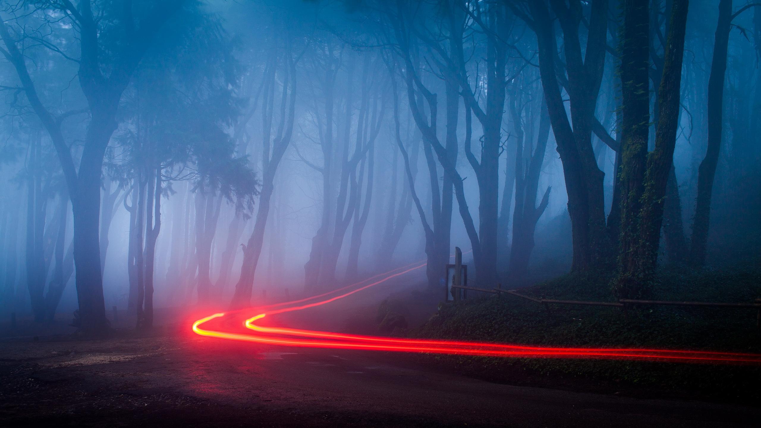 Свет след от авто